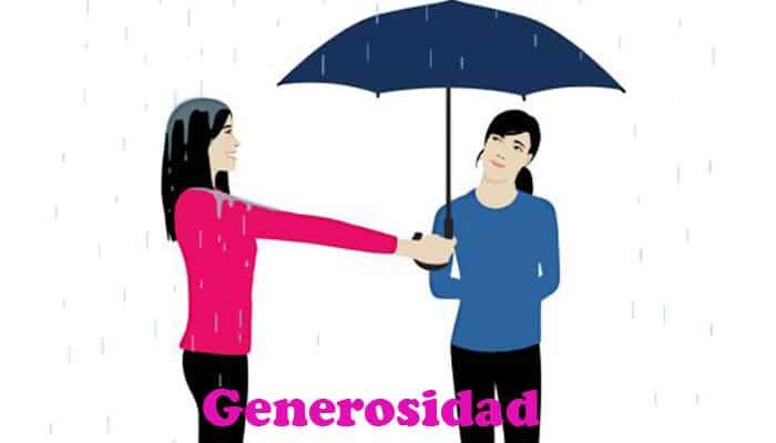 La generosidad es un valor importante