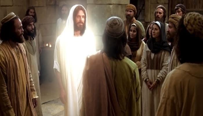 Jesús se le aparece a los apóstoles después de su muerte