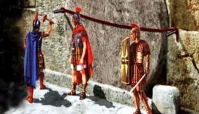 Guardia Romana custodiando la tumba de Jesús