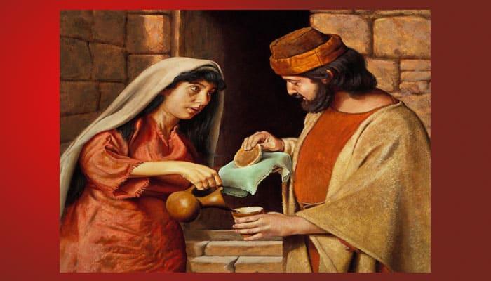 La viuda de Sarepta da de comer al profeta Elías