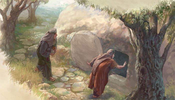 Mujeres encuentran la tumba vacía