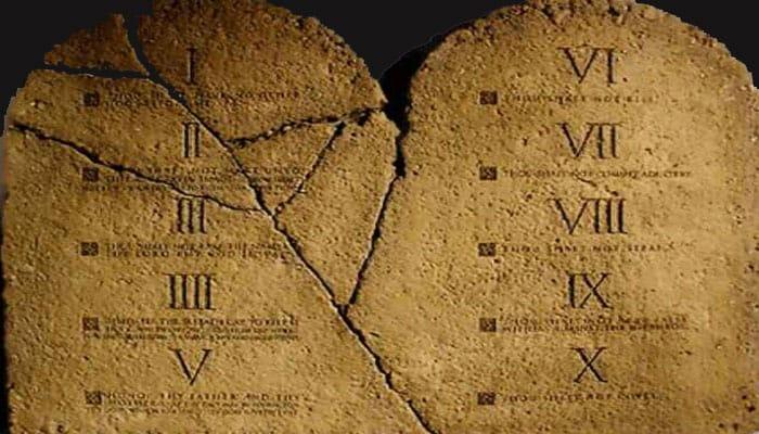 Tablas de los 10 mandamientos