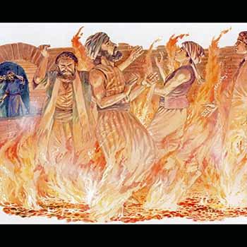 Sadrac, Mesac y Abednego en el horno de fuego