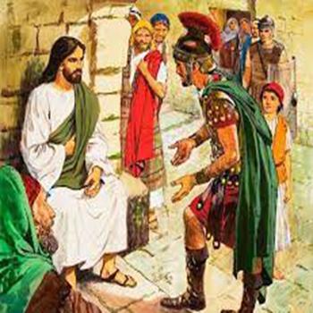 El centurión y Jesús